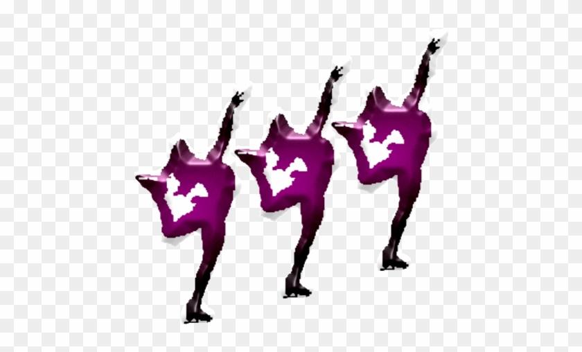 Gymnastics Sport Clip Art - Synchro Figures Skating Clip Art #1053879