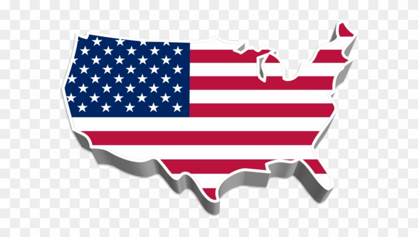 Us 3d Map By Syndikata Np America Map Flag Free Transparent - Free-3d-us-map