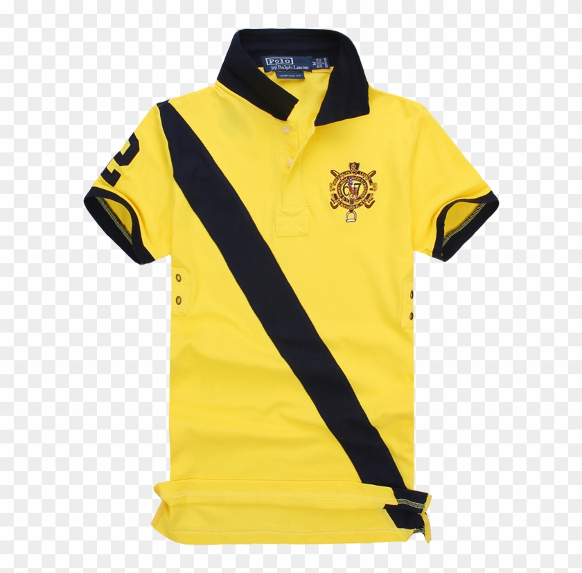Color Yellow Sale Contrast Shirt And Specials T Hot Polo Black CoxdBe