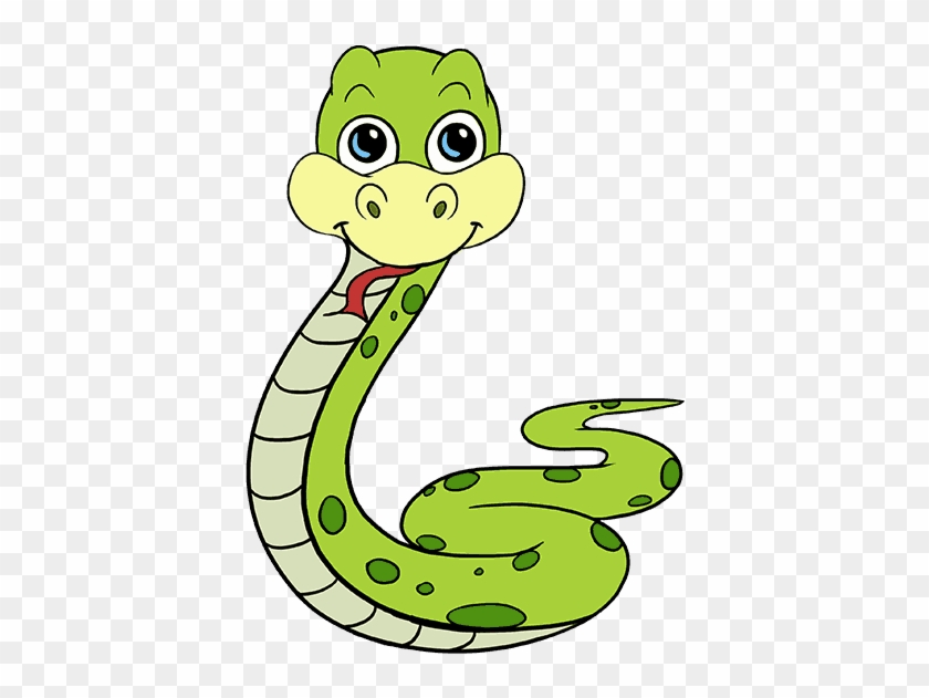 How To Draw A Cartoon Snake Easy Step By Step Drawing Cartoon