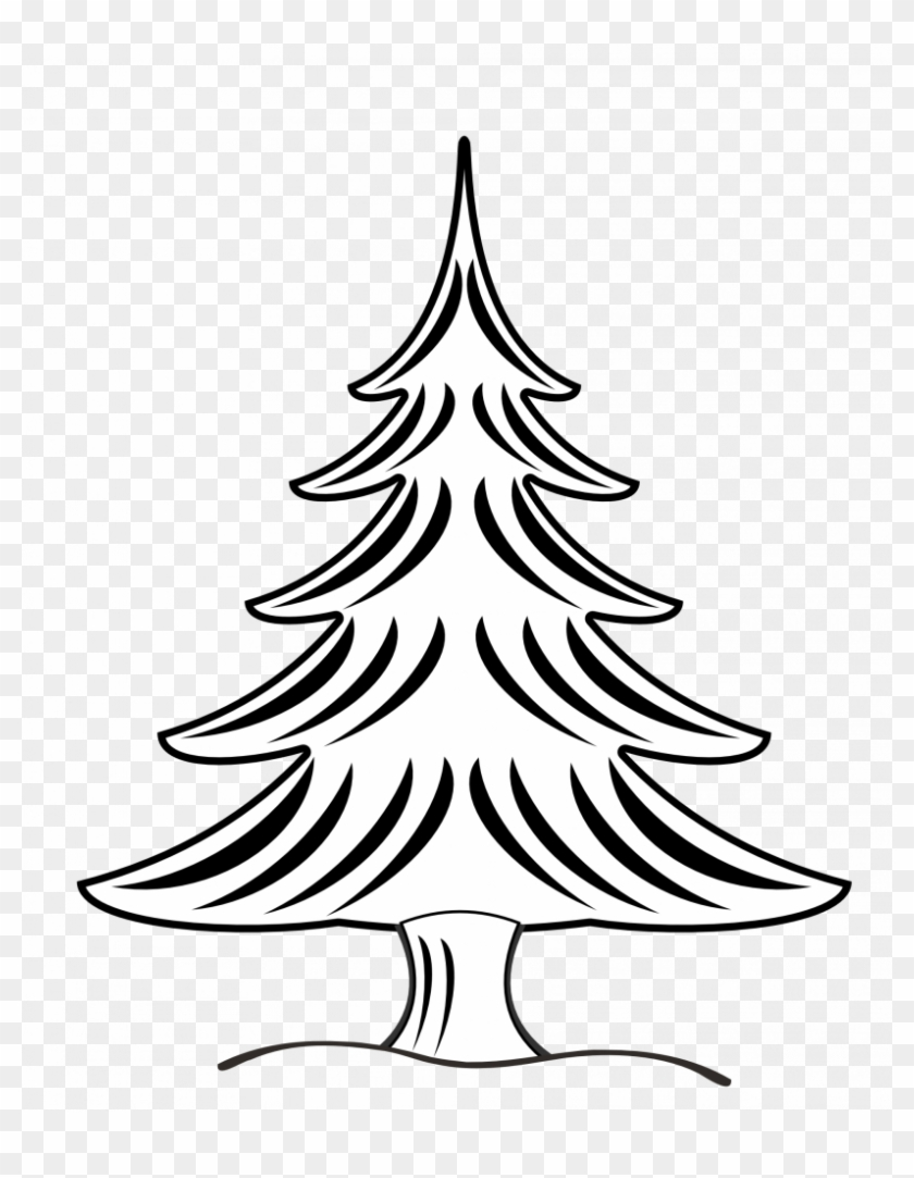 Pine Tree Clipart Black And White #1055205