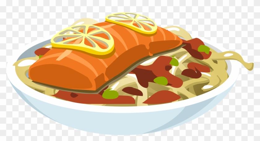 Big Image - Salmon Food Clip Art #1055335