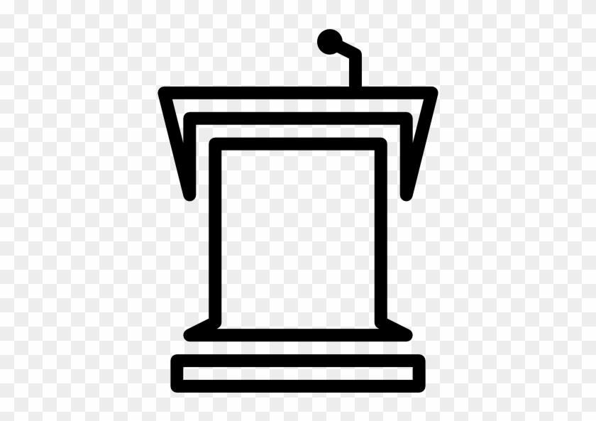 Classroom Tribune Free Icon - Speech Podium Clipart #1055839