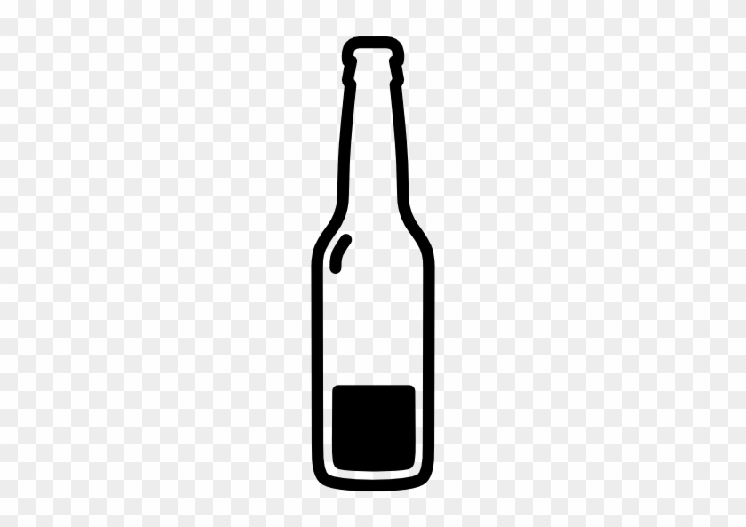 Beer Bottle Almost Empty Free Icon - Beer Bottle Vector Png #1056517