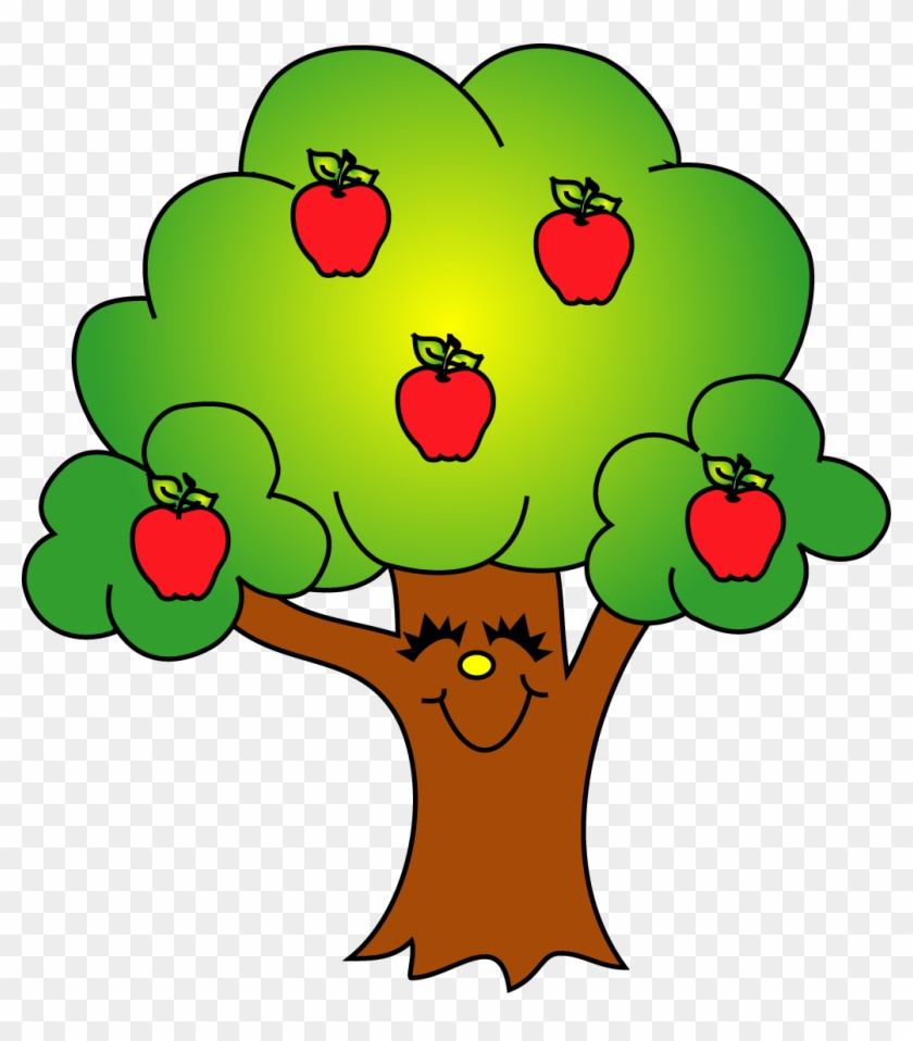 Green Apple Tree Clipart - Apple Tree Clipart Free #1056919