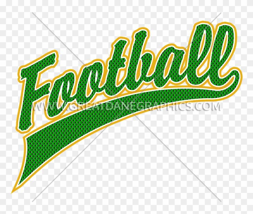 Football Script Embroidery Design #1057053