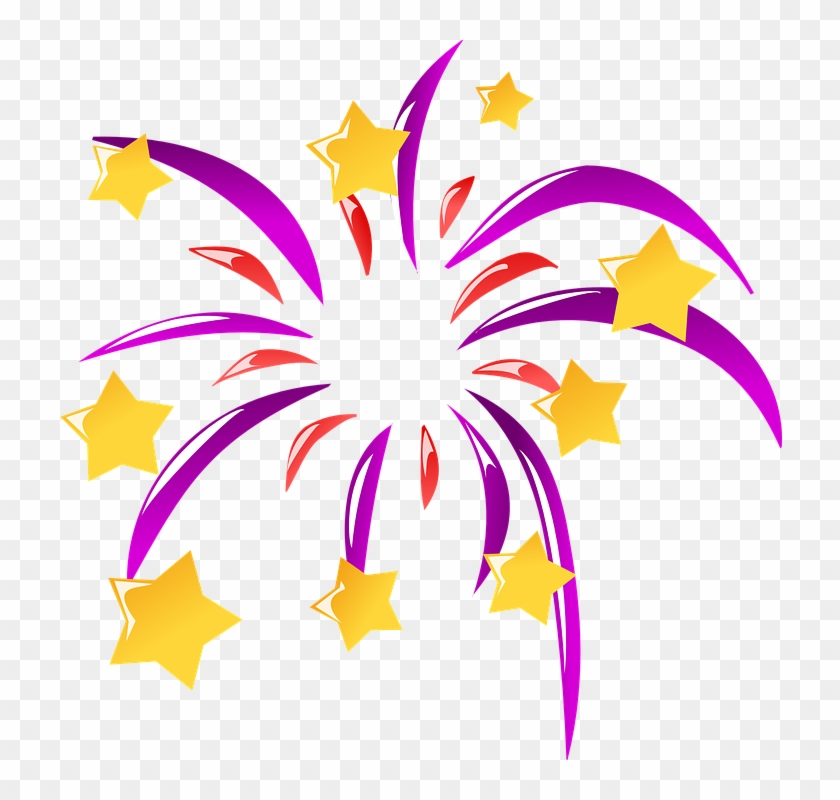 Explosion Clipart Rocket Explosion - Happy New Year Icon Png #1057528