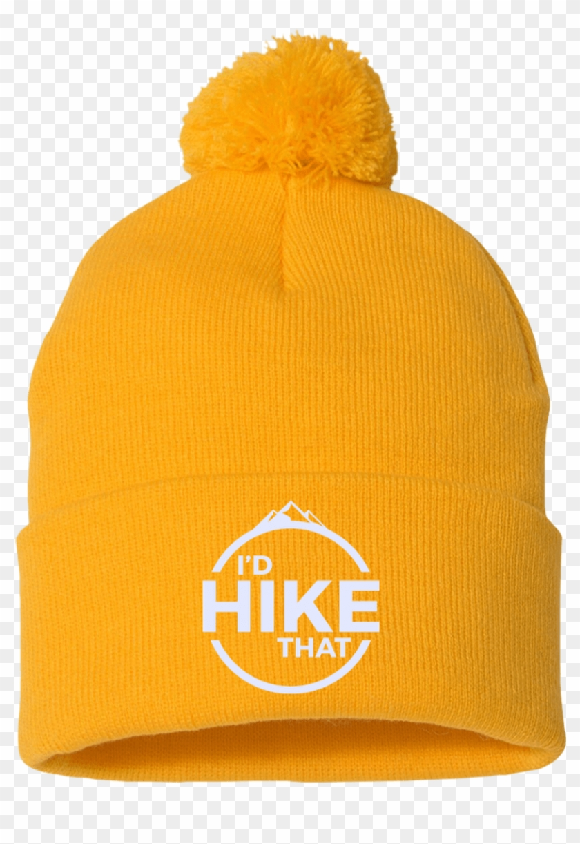 8ae3717f3aa Hats Pom Pom Knit Cap   Gold   One Size I d Hike That - Let s Get ...