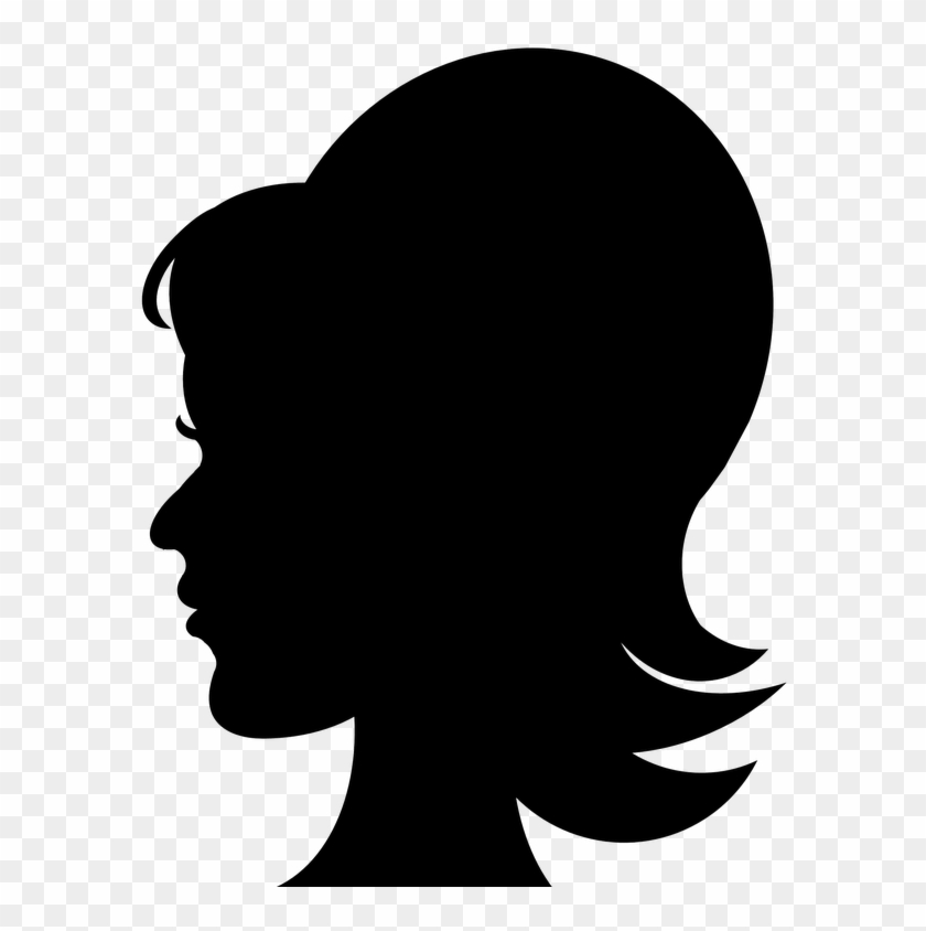 Free Woman Silhouette Clip Art Youngest Mother Clipart - Man With Hat Silhouette #1058333