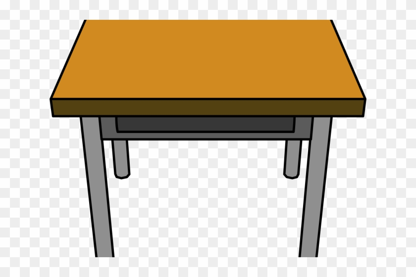 Desk School Cliparts - Table Clipart #1058874