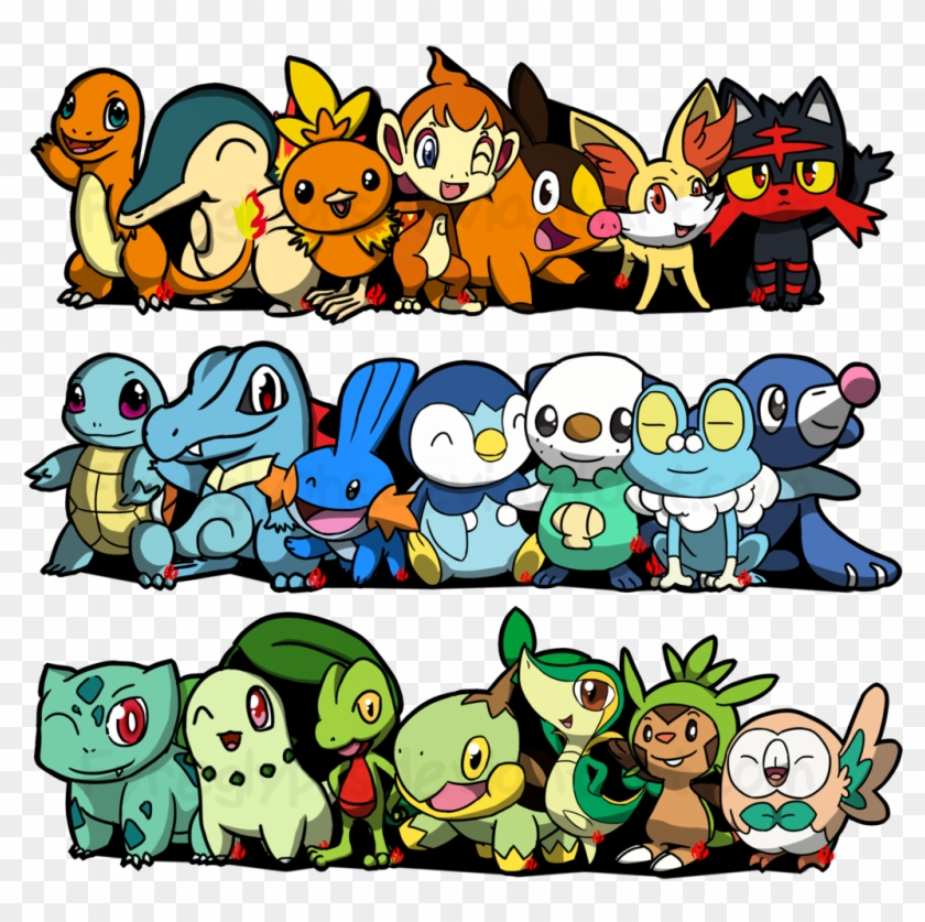 View Collection - Pokemon All Starters Deviantart #1058984