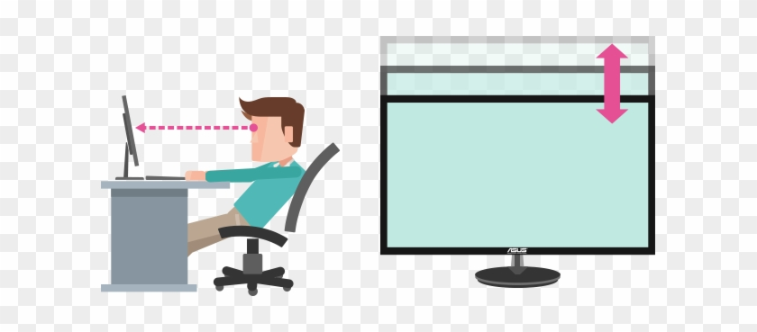 Cannot Swivel Your Monitor To Share The Screen With - Monitor At Eye Level #1059149