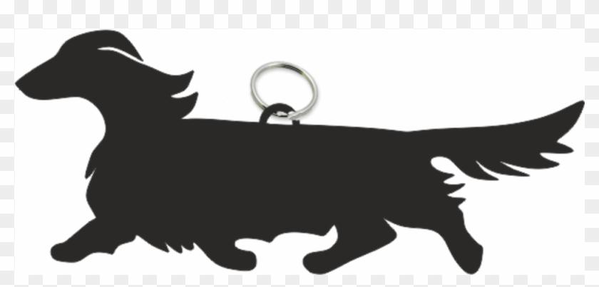 dachshund long haired key ring fob long haired dachshund
