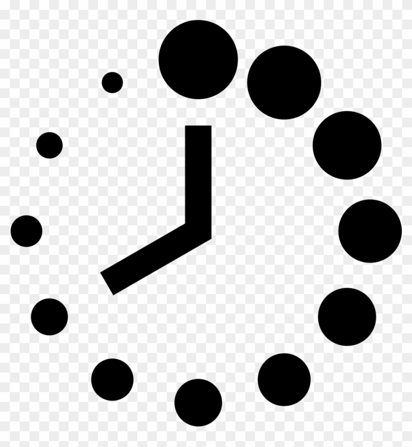 Simpleicons Business Clock Of Circular Shape With Dots Clock Dots