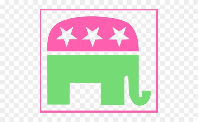 Gajah Transparan - Lilly Pulitzer Republican Elephant #1061290