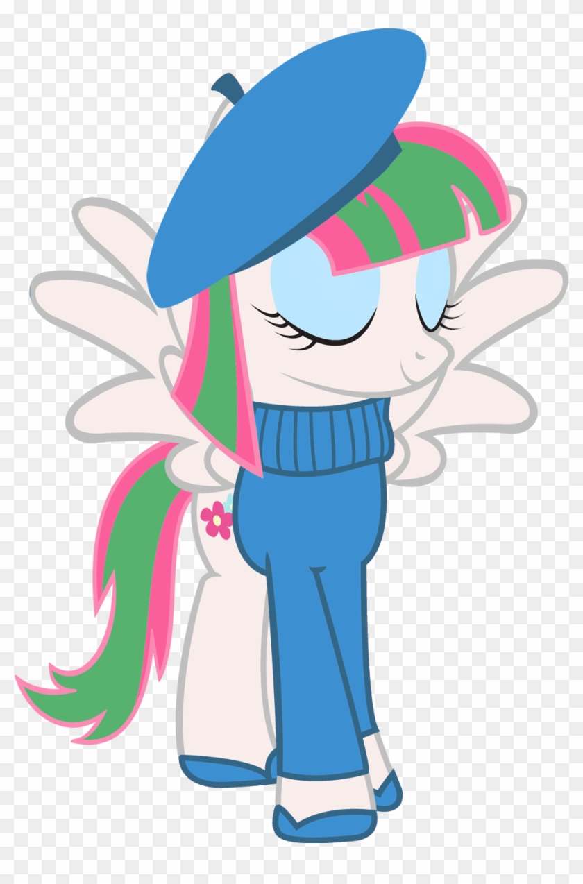 Cool77778, Beatnik, Beret, Blossomforth, Clothes, French, - My Little Pony French #1061546