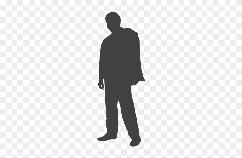 standing businessman silhouette cartoon royalty free - 840×551