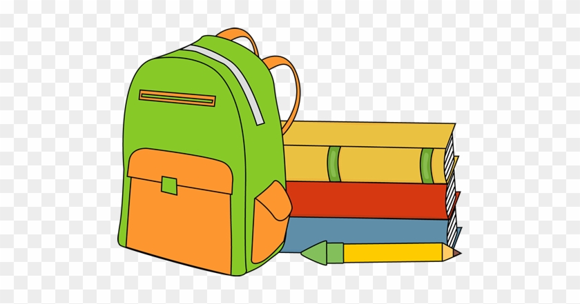 School Books Clipart & School Books Clip Art Images - School Books And Backpack #1063498
