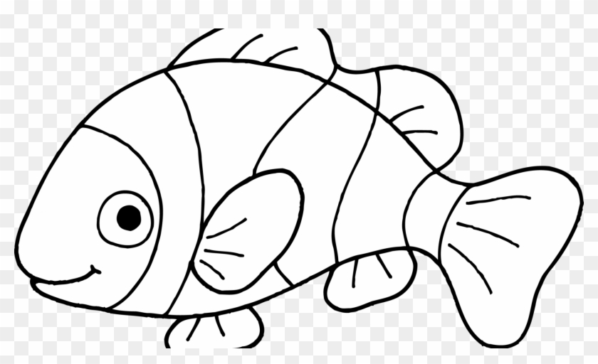 Clown Fish Coloring Page Worksheet Coloring Pages Clownfish - Clip ...