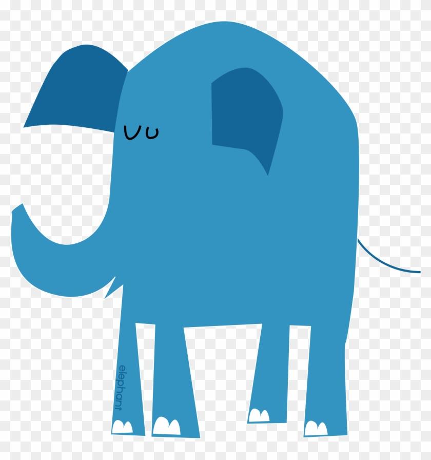 Big Image - Cartoon Blue Elephant #182353