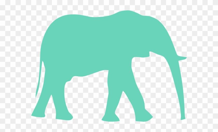 Blue Elephant Svg Clip Arts 600 X 432 Px - Elephant Clipart Black And White #182376