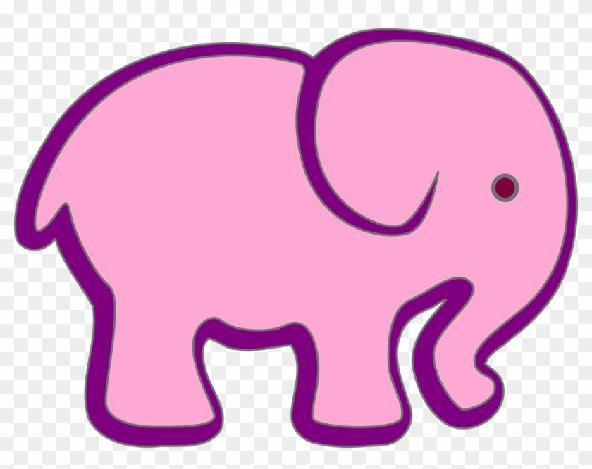 Pink And Purple Elephant Clip Art - Elephant Clip Art #182378