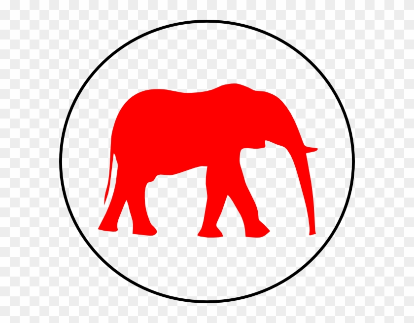 Clip Art At Clker - Elephant And A Mouse #182380