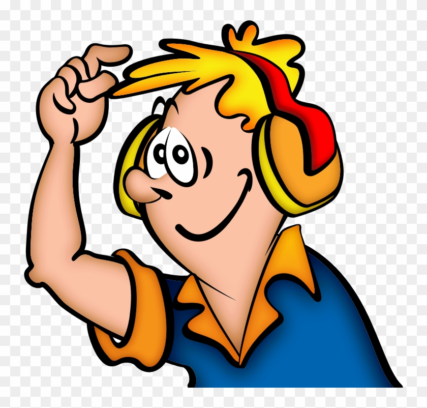 Image For Jonata Boy With Headphone People Clip Art - Listen To Music Png #182471