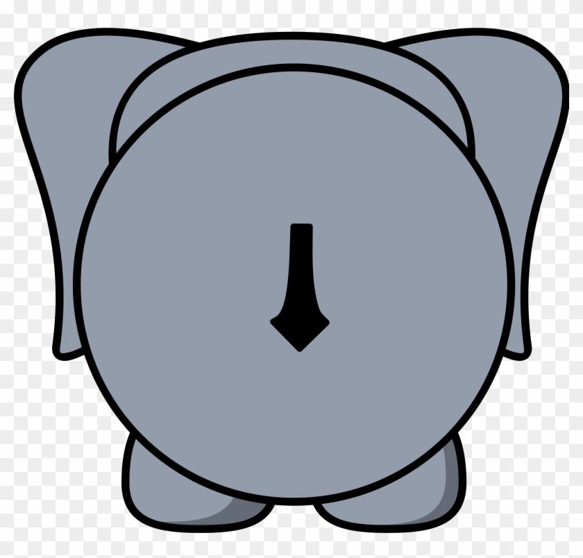 Elephant Back - Back Of An Elephant Clipart #182481