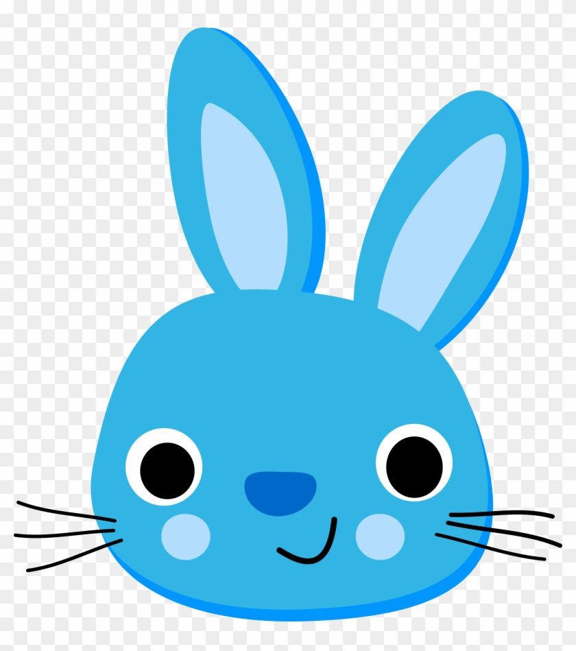 Clipart - Blue Rabbit - Lapin Bleu - Blue Rabbit Png #182499