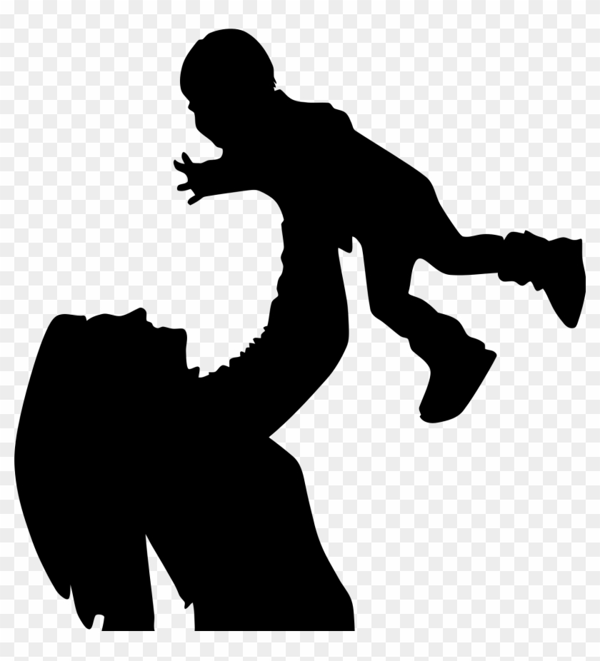 Reach Out And Read Benefits Adolescent Mothers - Mother With Child Silhouette #182510