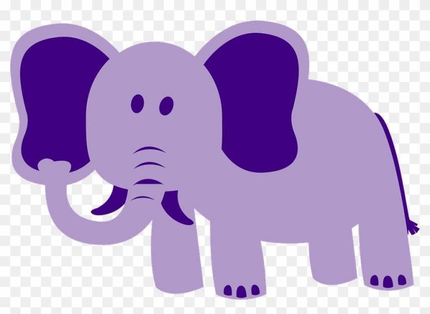 Purple Elephant Clipart #182512