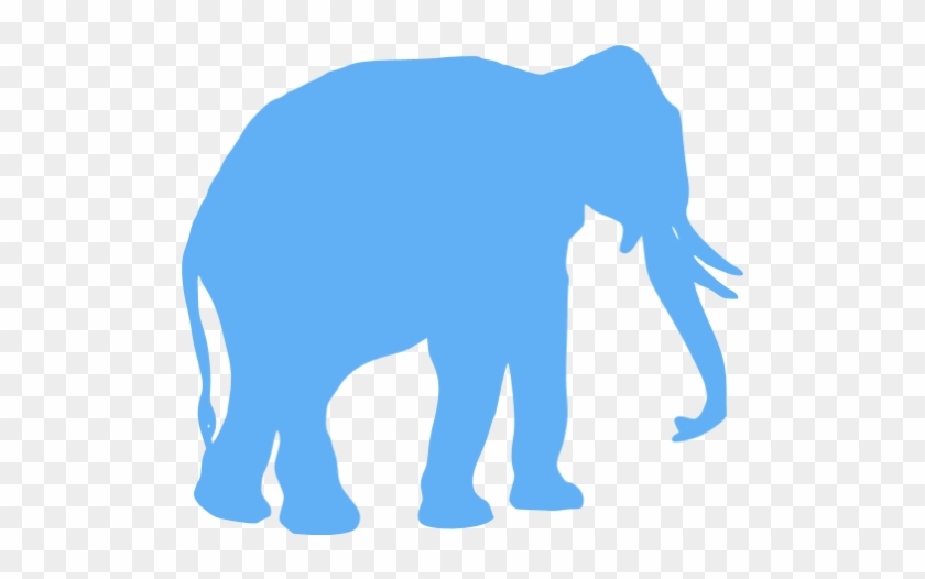Tropical Blue Elephant Icon - Elephant Icon File Png #182533