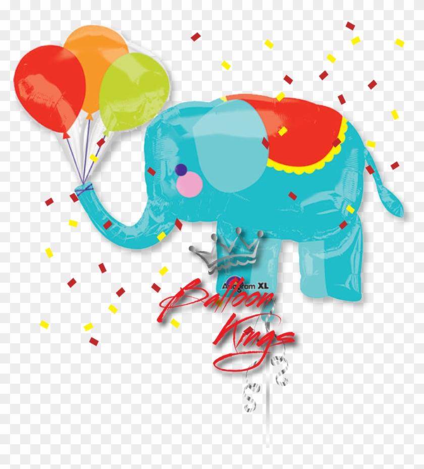 Circus Elephant - Balloon Foil Shape Circus Elephant #182538