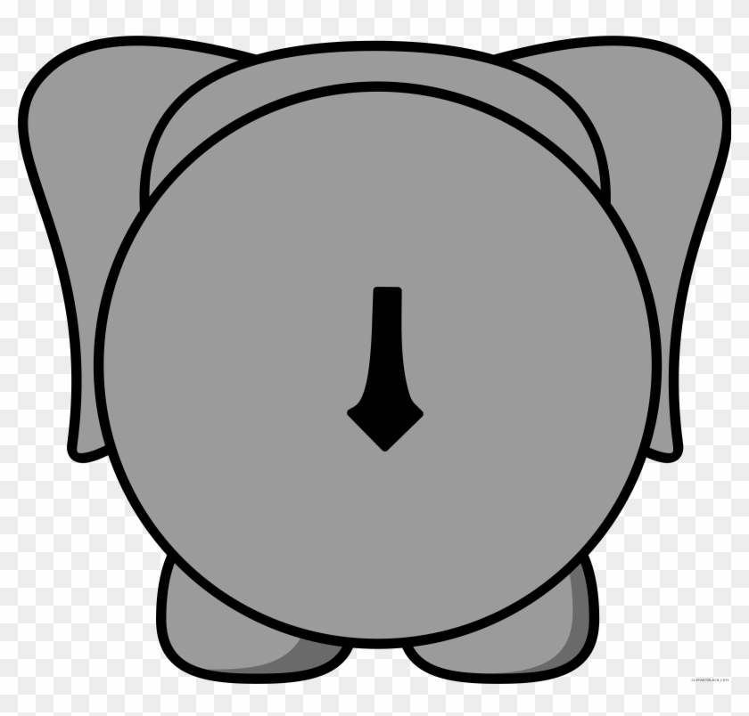Grey Elephant Animal Free Black White Clipart Images - Back Of An Elephant Clipart #182545