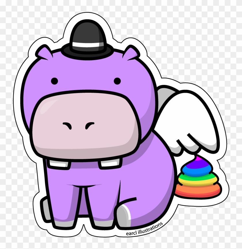 Hippo Clipart Awesome - Flying Hippo Clipart #182576
