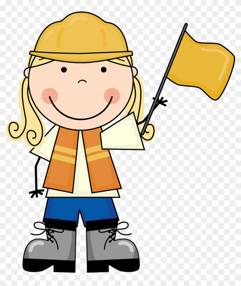 Kid Construction Clipart - Kid Construction Worker Clipart #182667