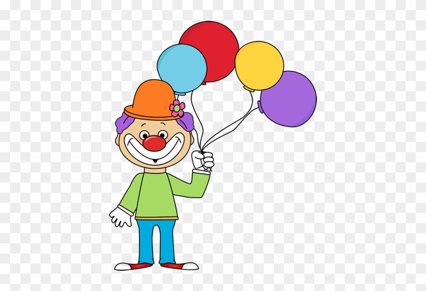 Circus Elephant Clipart - Clown With Balloons Clipart #182757