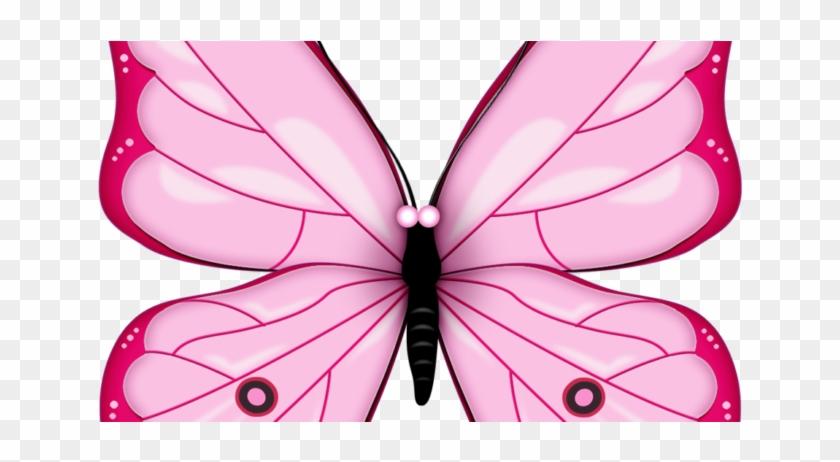Butterfly Clipart Vector - Pink Butterfly Clip Art #182761