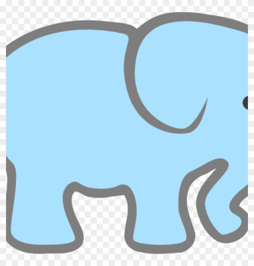 Baby Elephant Clipart Lt Blue Ba Elephant Clip Art - Pink Elephant Cut Out #182771
