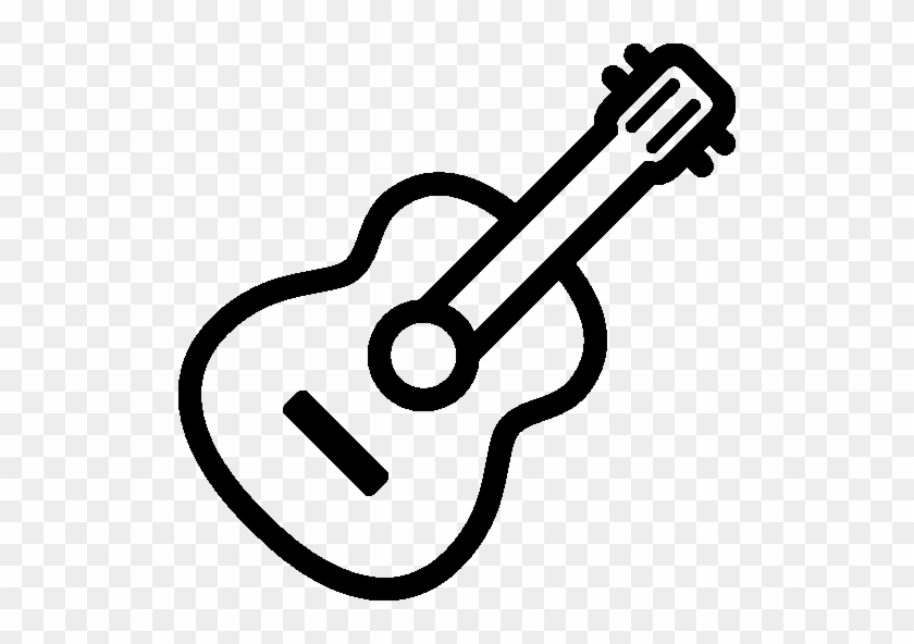 Guitar Outline Icon - Guitar Icon Png #182787