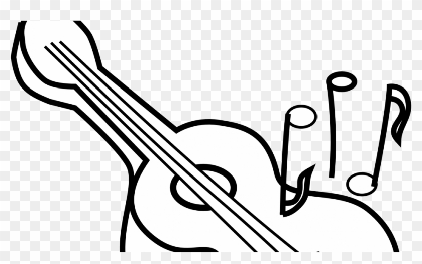 Acoustic Guitar Coloring Pages Printable Best Free - Guitar Clipart Black And White #182818