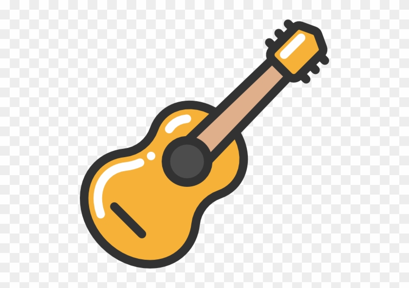 Acoustic Guitar Free Icon - Guitar Vector Png #182824