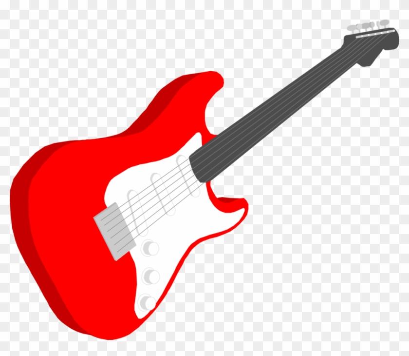Guitar - Red Guitar Clip Art #182843