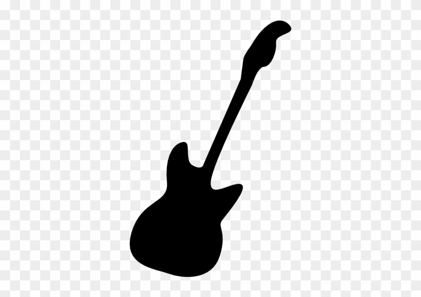Pin Electric Guitar Clipart Black And White - Bass Guitar Svg #183001
