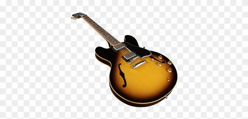Guitar - Gibson Es-335 Dot Figured Bourbon Burst Electric Guitar #183046
