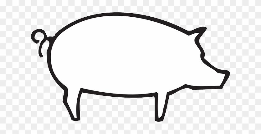 Barn Outline Outline Barn Farm Pig Art Animal Pictures - White Pig Silhouette Png #183648