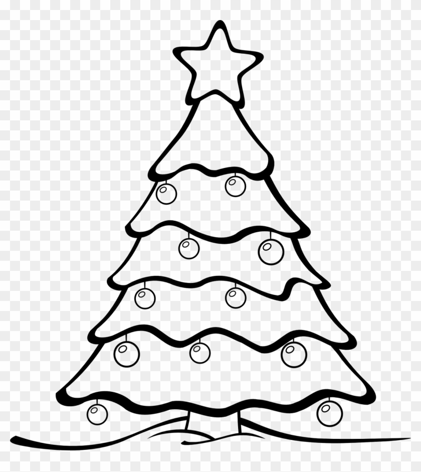 Christmas Star Clip Art Black And White Black And White - Merry ...