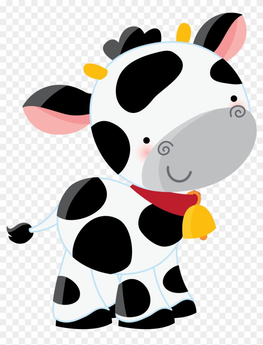 Say Hello Cow Clipartclipart Babyclipart Imagespaper - Farm Animals Paper Cupcake Picks 24pcs #183684