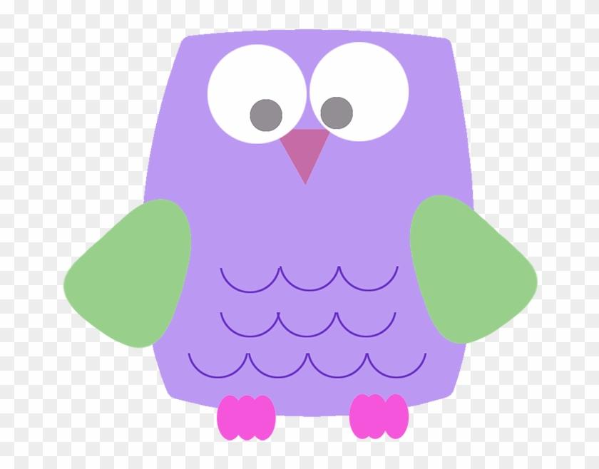 Lila Funny Owl Clipart - Cute Purple Owl Clipart Transparent #183704